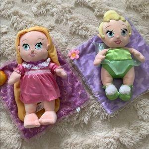 DISNEY Babies Lot - Rapunzel & Tink